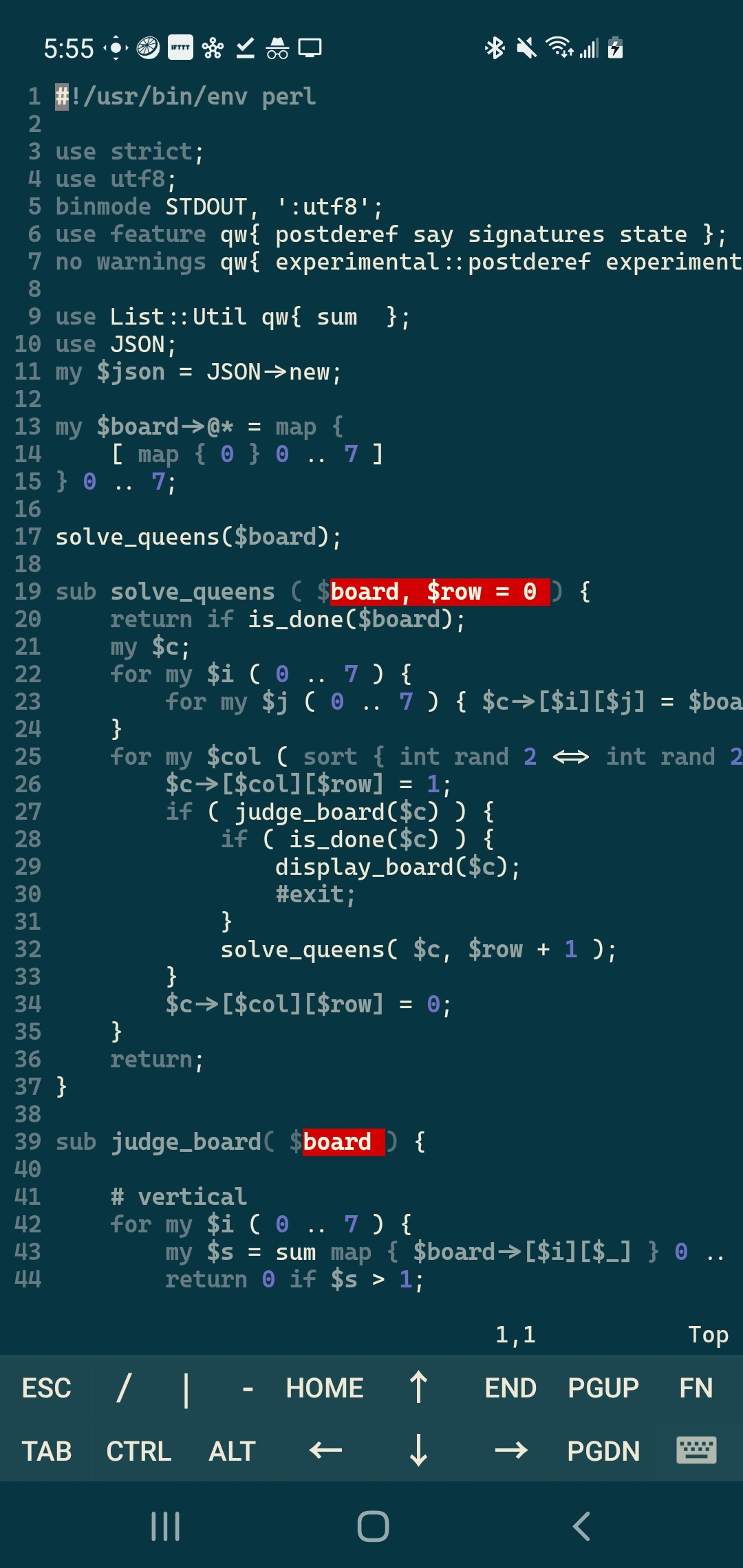 My Code on a remote machine via JuiceSSH
