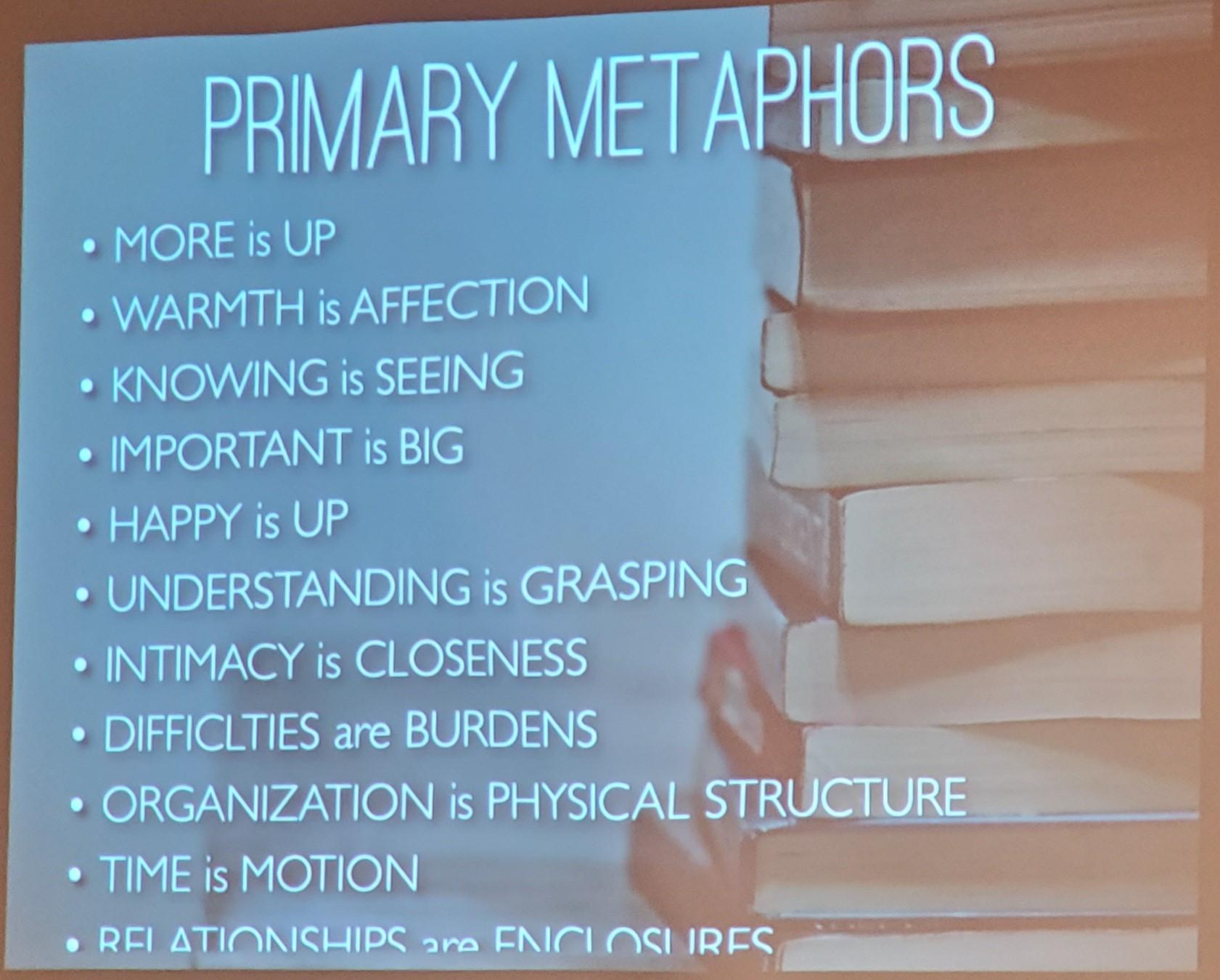 Primary Metaphors